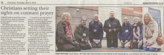 Essex Chronicle article 020415
