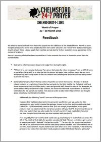Feedback document snip