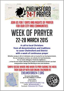 Week of Prayer 22 - 28 March 2015 A4 Poster
