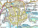 South Woodham map