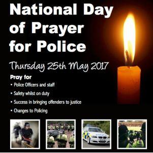 National Day of Prayer for Police banner 2017