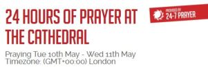 Cathedral prayer calendar snip