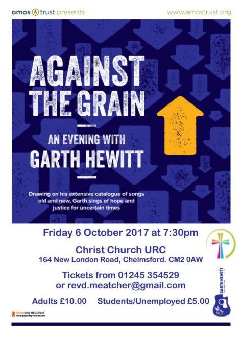 Garth Hewitt event Christ Church 6 October 2017