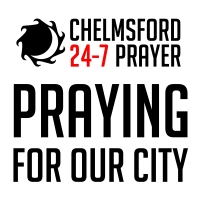 Chelmsford 24-7 Prayer & large letters praying for our City large logo v2