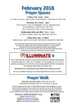 Prayer Space & Walk times and dates leaflet Feb 2018 snip