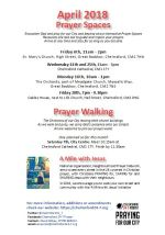 Prayer Space & Walk times and dates leaflet Apr 2018 snip