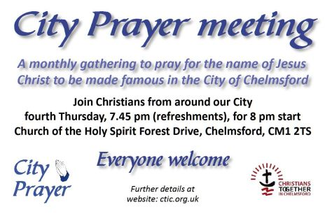 City Prayer Meeting advert for Powerpoint