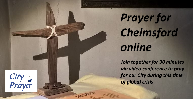 Wooden cross - Prayer for Chelmsford with wording