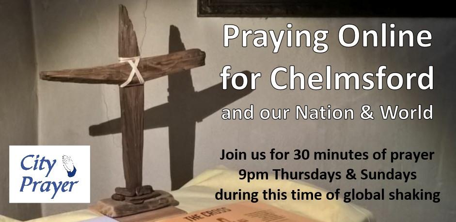 Wooden cross - Prayer for Chelmsford for Thur & Sun - smaller version -revised July 2020